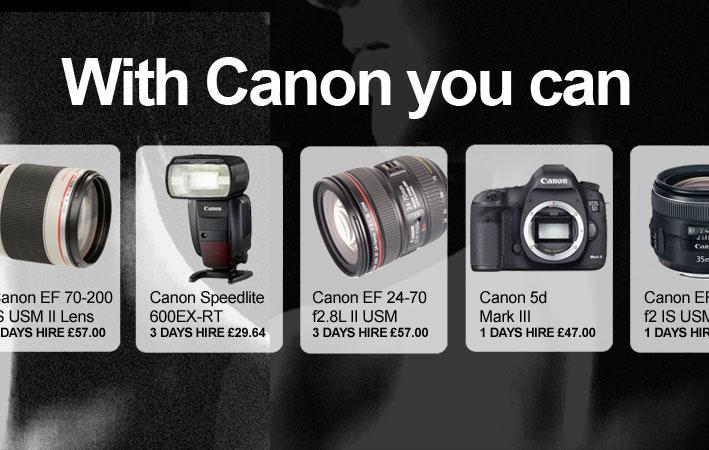 Canon hire gear