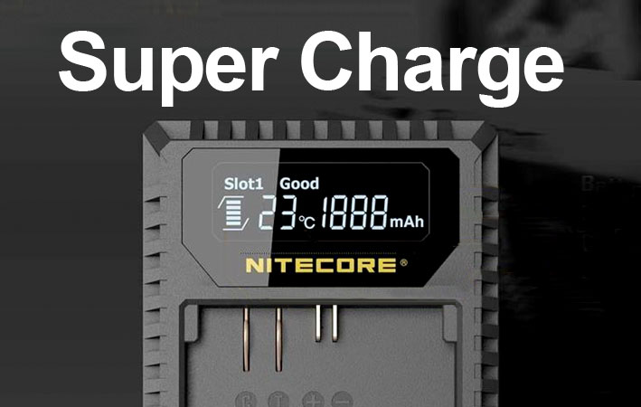 Nitrocore camera battery chargers