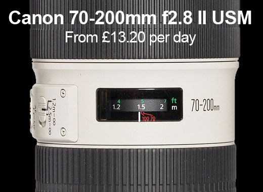 Canon 70-200mm for hire