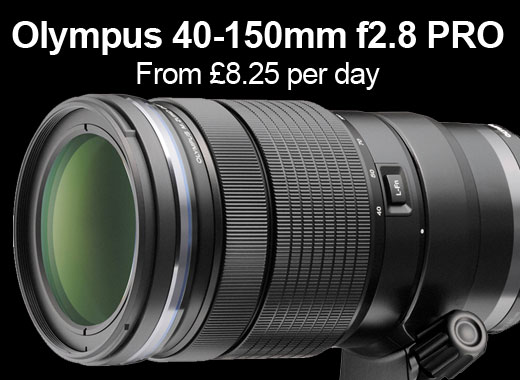Olympus 40-150mm f2.8 pro for hire