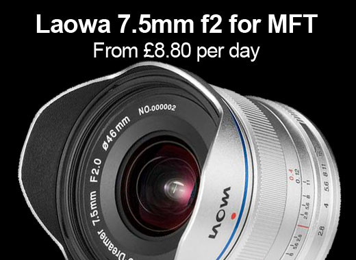 Laowa MFT 7.5mm f2 for hire