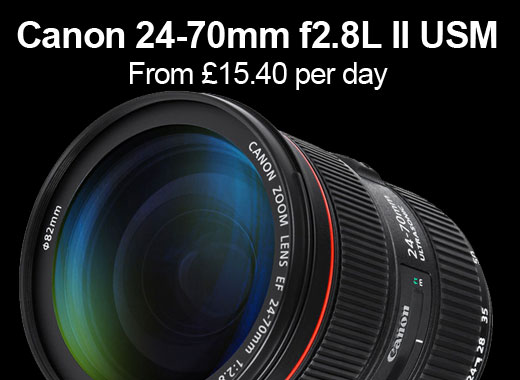 Canon 24-70mm F2.8L II USM for hire