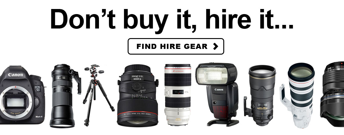 Hire photographic equipment