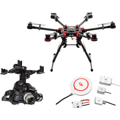 DJI Spreading Wings S900 Hexacopter Drone with A2 Flight Con