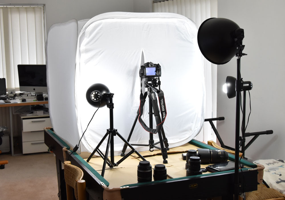 Studio Light Tent Kit for DIY prduct photography. Ideal for Ebay, Amazon or Ecommerce